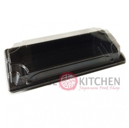 Disposable Sushi Tray with Clear Lid (ST2) Black x1pc