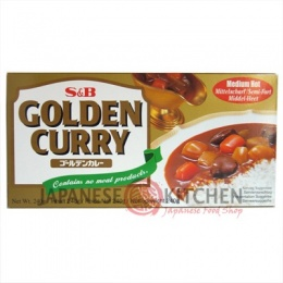S&B : Golden Curry Roux - Sauce Blocks (Medium Hot) LARGE 240g