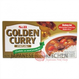 S&B : Golden Curry (Japanese Curry Sauce) MEDIUM HOT - 100g