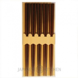 Japanese Wooden Chopsticks (Set of 5 pairs)