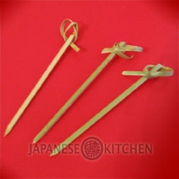 Noshi Gushi Bamboo Skewers with knot (100pcs)