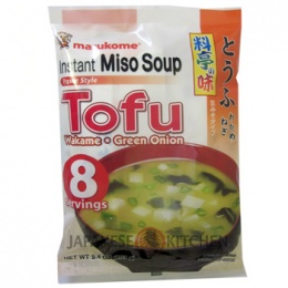 Marukome : Instant miso soup (Tofu, Wakame, Green Onion) - 8 Servings