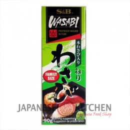 S&B : Wasabi Paste (Japanese Horseradish) Large tube 90g