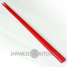 Wooden Chopsticks with Lacquer coating (Plain Red Glossy)