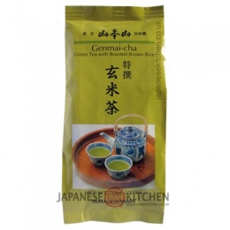 Yamamotoyama : Premium Genmai-Cha (Green Tea with Roasted Brown Rice) loose leaf - 200g